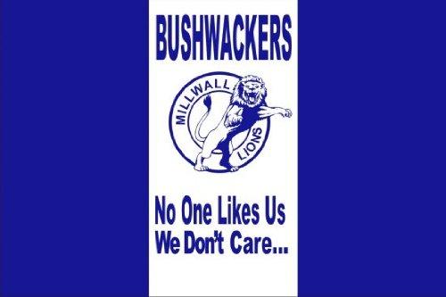 World of Football Fahne Millwall Bushwackers
