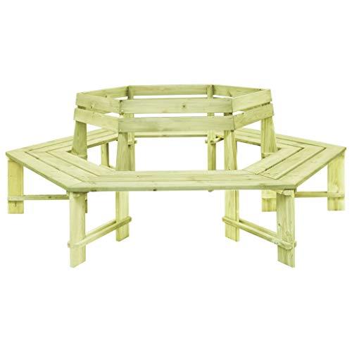 Festnight Tuinbank Eetkamerstoel, fauteuil Receptie Gaststoel voor thuis, kantoor, woonkamer, slaapkamer, eetkamer, woonkamer, keuken, balkon 240 cm geïmpregneerd grenenhout