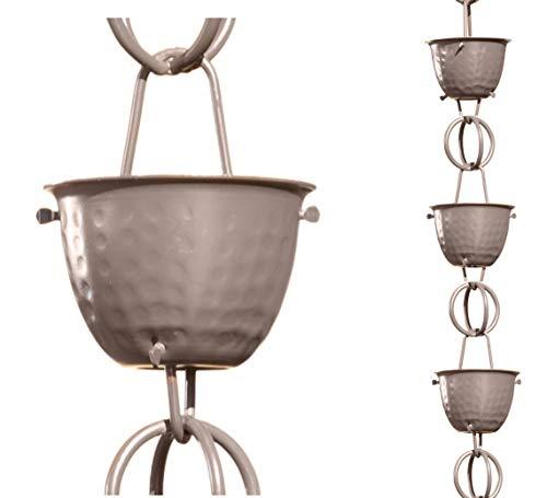 Monarch Rain Chains 50586 Musket Brown Aluminum Rain Chain, 8.5 Ft