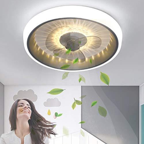 Ventiladores de techo creativos Ventilador de techo moderno con iluminación Ventilador de techo LED regulable con control remoto Ventilador invisible silencioso