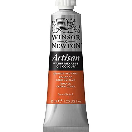Winsor & Newton Artisan Water Mixable Oil Colour, 37ml Tube, Cadmium Red Light