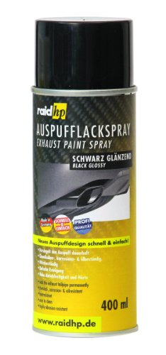 raid hp 351000 Auspuff Lackspray, 400 ml, Anzahl 1, Glänzend Schwarz