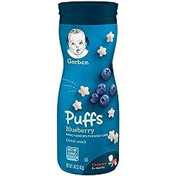 Gerber Graduates Puffs Blueberry, 1.48 Oz