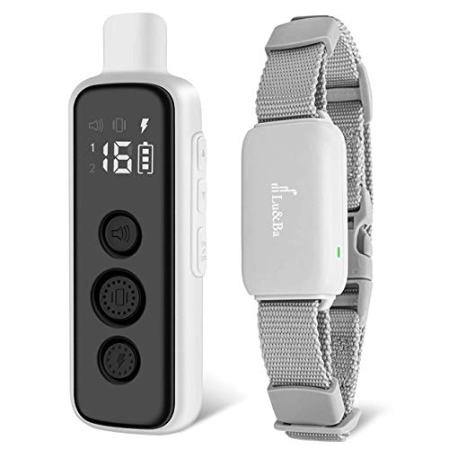 Lu&Ba Dog Training Collar with Remote, Rechargeable Shock Collar for Dogs Waterproof Dog Shock Collar with Beep Vibration and Safe Shock Modes Suitable for Small Medium Large Dog