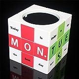 Personalidad Suministros de Oficina de Tercer Orden Bolígrafo Cubo de Rubik, Magic Cube Puzzle Toy, Organizador de Escritorio de lápiz, lápiz, contenedor para niños