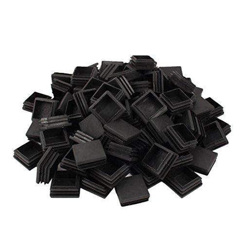 Sourcingmap® Table carrée Jambe Tuyau Embouts d'insertion Tubes Bouchons Noir 40mm x 40mm 100pcs