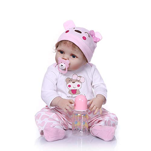 FACAIA Rebron Baby Doll 22inch 55cm Hard Simulation Silicone Boy Girl Baby Toys for Children Lovely