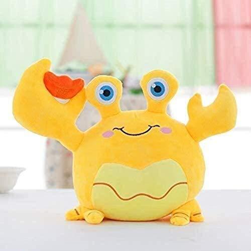 EREL Krabbensimulation Kreative Plüsch Spielzeug Kissen Aktivität Geschenk Kissen Dekorative Ornamente 20 cm Gremssize: 35 cmcolour: orange (Farbe: gelb Größe: 20 cm) dedu