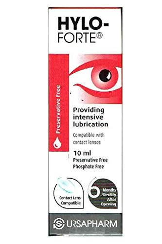 UrsaPharm Hylo-Forte Lubricating Eye Drops 10Ml - Pack of 2