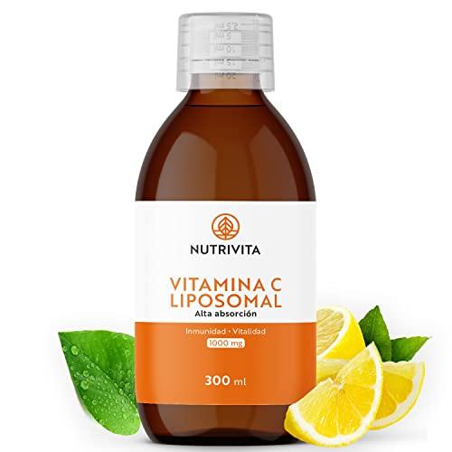 Vitamina C Liposomal   Dosificación Potente y Máxima Absorción   Formulado con Vitamina C Quali®-C   Fabricado en el Reino Unido   Botella de 300 ml   Nutrivita