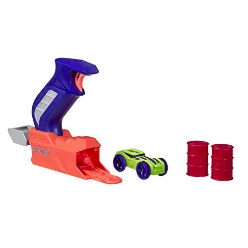 Hasbro Nerf C0781EL20 Nitro ThrottleShot Blitz Druckguss-Spielzeug, EIN-Schuss-Blaster mit Soft Racer