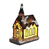 Knowooh Luci Natalizie a LED casa Villaggio di Natale Decorazione Natalizia, Funzionamento a Batteria (B)