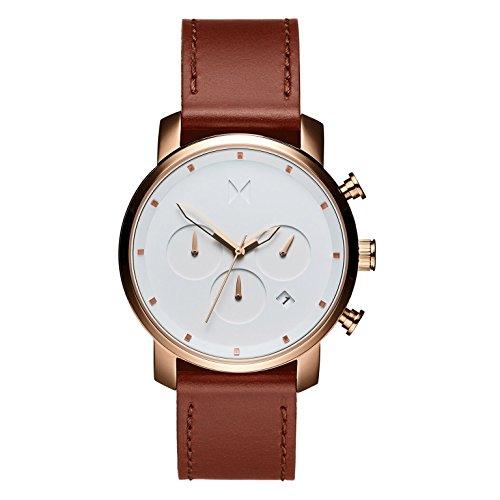 MVMT Herren Chronograph Quarz Uhr mit Leder Armband D-MC02-RGNA
