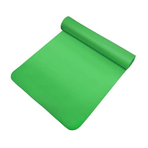 Esterilla de yoga NBR Manta antideslizante ecológica Fitness Fitness Fitness Esterilla espesada Fitness Pilates Deportes Ejercicio Alfombra (verde)