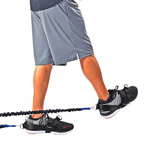 2 Pack All-Legs 4-Ring Fitness Glute Kickback Oefening Gereedschap Enkelband Geweldig voor Booty Butt ZILVER