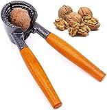 るみ割り器 胡桃 銀杏 くるみ 殻割り器 ピーカン ヘーゼルナッツ アーモンド クルミ マカダミアナッツ用ナッツなどが簡単に割れます木製ハンドルスプリング付
