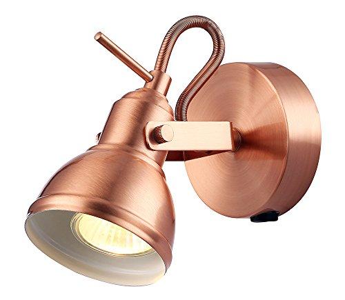 Uniek industrieel ontworpen geborsteld koper geschakeld wandspotlicht