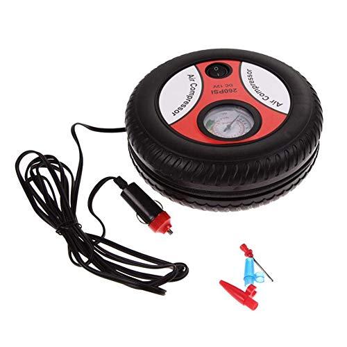 Compresseur d'air portable 12 V Gonfleur de pneu de voiture Pneu numérique Pompe à arrêt automatique, pour auto, moto, vélo, boule, jouets gonflables et bien d'autres