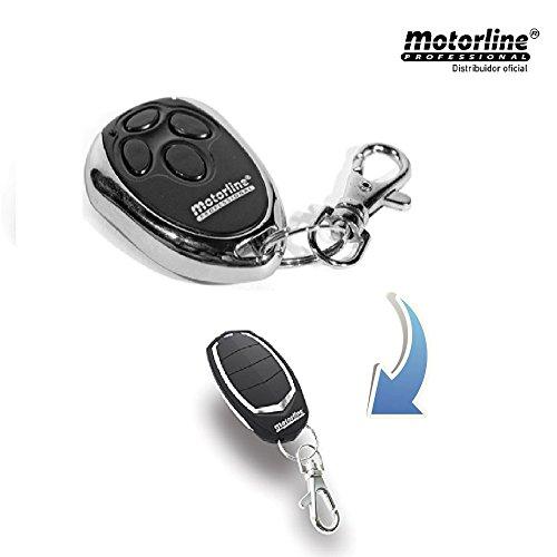 Mando Garaje Motorline MX4SP Nuevo Modelo (Falk) 4 Canales, código dinámico, frecuencia 433,92 MHz, Compatible con Sistemas Motorline Professional.