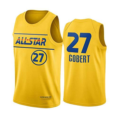 ZCGS Gobert - Camiseta de baloncesto para hombre, diseño de 27 # 2021 All-Star Gobert Youth Swingman Jerseys New Season Impreso Camisetas deportivas (S-XXL) XXL