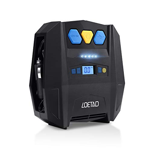 Compresor de 12V para coche digital LOETAD