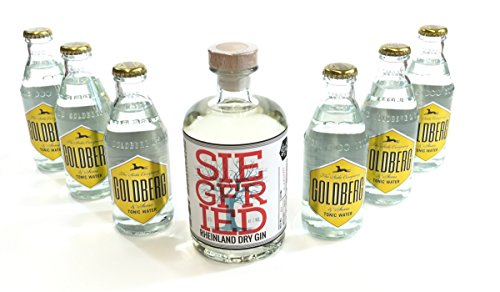 Siegfried Gin Tonic Set - Siegfried Rheinland Dry Gin 500ml (41% Vol) + 6 Goldberg Tonic Water 200ml