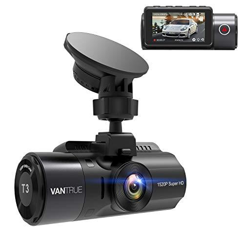VANTRUE T3 2592x 1520P OBD Dashcam mit HDR Nachtsicht, 24Std. Mikrowellen Parküberwachung, Superkondensator Dash Cam, 160° 2,45 Zoll IPS, TYP C Autokamera, G Sensor, Daueraufnahme, max. 256GB