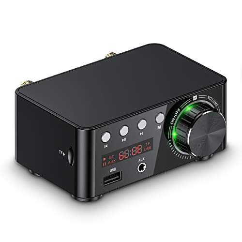 Mini amplificatore audio Bluetooth 5.0, USB, lettore musicale, stereo, per casa/auto