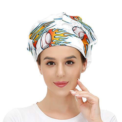 Gorra de trabajo con banda para el sudor, bolas de vuelo, clásica, llama, elástica, ajustable, gorras de trabajo para mujeres y hombres, talla única, bufanda de cabeza de trabajo, multicolor
