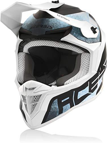 Acerbis Linear - Casco de motocross, azul bebé, blanco, talla M (57/58)