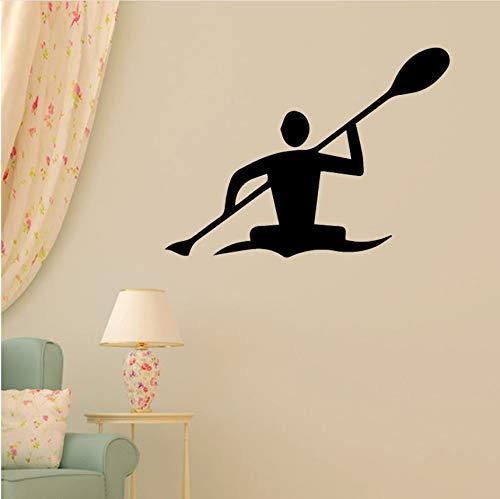 Wuyii muursticker, decoratie, voor thuis, woonkamer, slaapkamer, Olympique kajak, familie, stickers, vinyl, zelfklevend, 43 x 50 cm