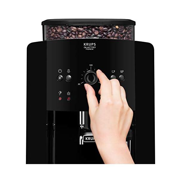 KRUPS Arábica Cafetera Espresso Automática, 1450 W, 1.7 litros, Acero