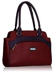 Fantosy Womens Maroon And Purple Handbag