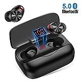 Ecouteur Bluetooth, Ecouteurs sans Fil Hi-FI Stéréo Oreillette IPX5 Étanche, Contrôle Tactile, Anti-Bruit CVC 8.0, 126H Playtime avec 3000mAh Etui de Charge, Microphones Intégrés pour Android et iOS