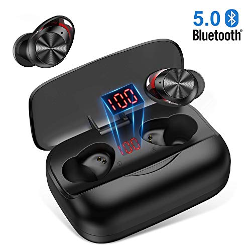 Bluetooth Kopfhörer In Ear,Bluetooth5.0 Kopfhörer Sport Kabellose HiFi 3D Sound CVC8.0 Nosie Reduction mit Mikrofone 3000mAh Ladecase/126H Std.Spielzeit/Volume Control/IPX5 Bluetooth Headsets