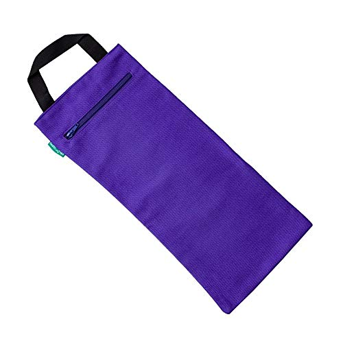 HealthAndYoga(TM) Yoga Sand Bags - Double Bag with Inner Waterproof Bag - Prop for Adding Weight and Support (Purple)