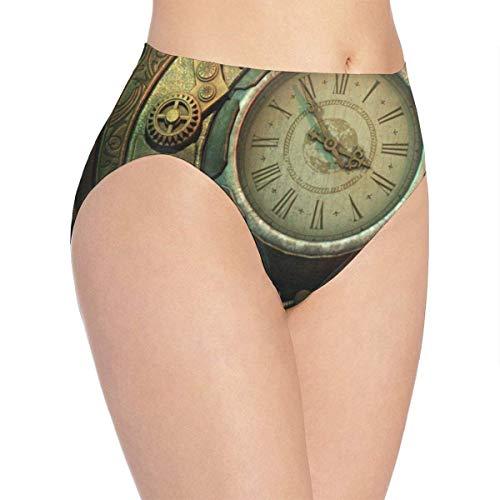 Eileen Powell Ropa Interior para Mujer Relojes Steampunk Bikini de diseñador Calzoncillos Calzoncillos Hipster XL