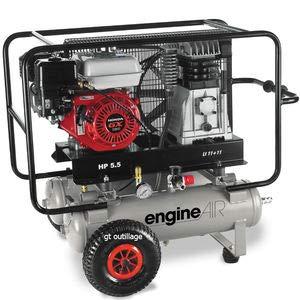 Compresor de aire térmica Mobile Motor Honda gasolina 4, 8cv cubeta 2x 11litres ABAC