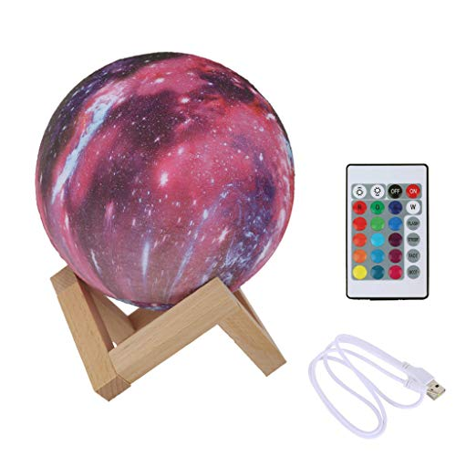 3D Impression lampe de lune Coloré Changement Tactile USB led Nuit décoration lumineuse pour la maison Creative Cadeau by Fulltime (13cm)