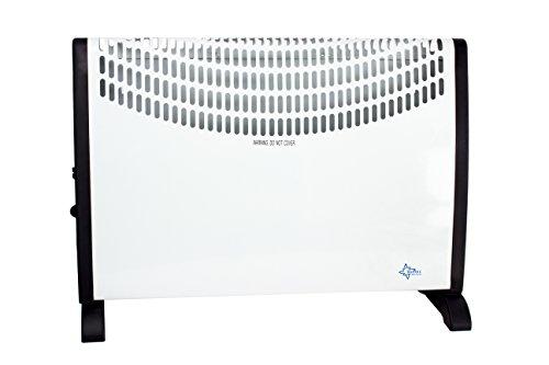 Suntec Heat Flow 2000 verwarmingsconvector, voor ruimtes tot 60 m3 (~25 m2), 3 warmtestanden, regelbare thermostaat, vrijstaand/wandmontage, 2000 watt