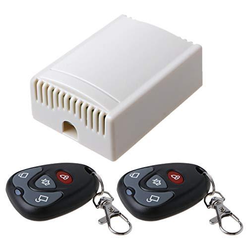 bfh Interruptor DC 12V 4CH, Cortina de Puerta de Garaje Módulo Receptor de relé de Timbre inalámbrico 1/2 Pieza 433MHz RF Control Remoto de 4 Botones
