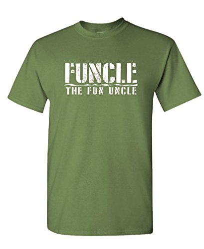 Funcle The Fun Uncle – Family Joke Funny – Mens Cotton T-Shirt