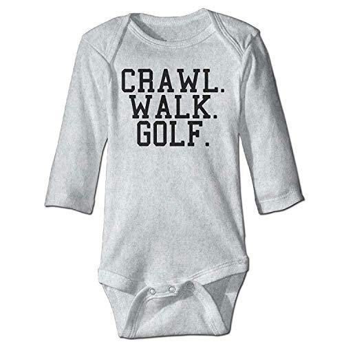 Unisex Toddler Bodysuits Crawl Walk Lift Fish Golf Girls Babysuit Long Sleeve Jumpsuit Sunsuit Outfit Ash