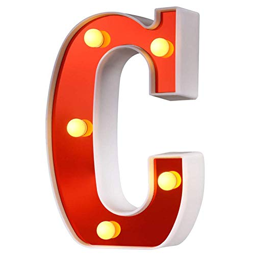 Red Plastic Letter Led Night Light Marquee Sign Alphabet Lights Lamp Home Club Outdoor Indoor Party Wedding Home Decoration Nds-C