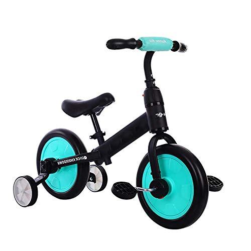 YWJPJ. Ropa de recreación de 3 Ruedas en Bicicleta para niños, triciclos para niños, diseño de Estructura Estable con Pedal removible y Asiento Ajustable para niños niñas - 3-6 años