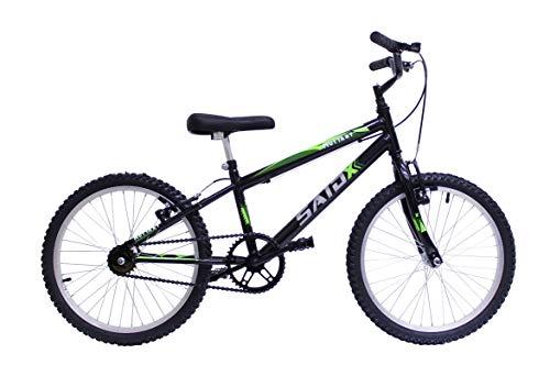 Bicicleta Aro 20 Infantil Meninos Passeio+Rodinhas De Brinde (Preto)