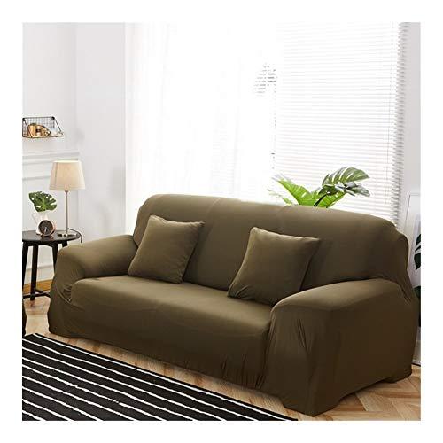 ZIJ Funda elástica para sofá de sala de estar, funda de sofá de 1/2/3/4 plazas, fundas de algodón baratas Copridivano (color 16, tamaño: 1 plaza, 90 140 cm)