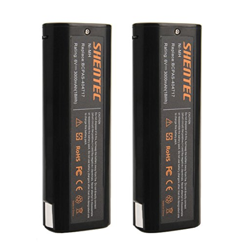 Shentec 2-Pack 3000mAh 6V Battery Compatible with Paslode 404717 B20544E BCPAS-404717 404400 900400 900420 900600 901000 902000 B20720 CF-325 IM200 F18 IM250 IM250A IM350CT IM350A PS604N, Ni-MH