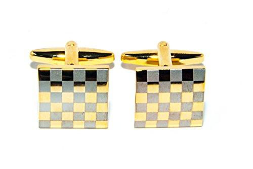 Jeff Jeffers Customs Gold Bandeau DE Voiture Autocollants DE Mariage Mariage Boutons DE Manchette Cufflinks, avec Sac Cadeau