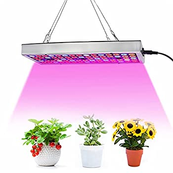 LED Grow Lights Full Spectrum Grow Lamp with IR & UV LED Plant Lights for Indoor Plants,Micro Greens,Clones,Succulents,Seedlings,Panel Size 12x4.7 inch